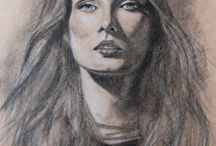 drawing charcoal , pencil / Drawing is my passion. This is the journey into myself...