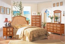 """The ABACO """"All Natural Rattan and Wicker Bedroom Collection"""" / The ABACO bedroom collection is a beautiful all natural Rattan and Wicker collection. This will turn any bedroom into a tropical get-away."""