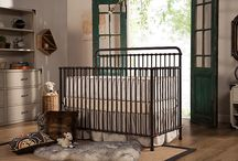 Winston 4-in-1 Convertible Crib / Inspired by vintage American metal cribs, the Winston 4-in-1 Crib is made of iron and will come in a washed white or vintage iron finish. Featuring classic metal casting at the joints and simple curves, Winston also converts to a full-size bed to grow with baby.