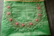 embroidered neck