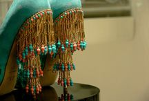 Fashion / Dior suede turquoise peep-toe fringe heels / by Dee S