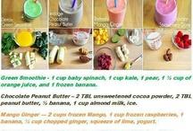 Food: healthy drinks  / Home, meals, dinner, lunch, cook, cooking, meats, breakfast, snacks, eggs, bake, cake, dessert, milk, recipes, shakes, healthy, organic, veggies, vegetables, greens, smoothies / by Lupe Binoeder