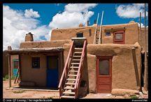 Pueblo houses
