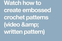 embossed crochet vedio pattern