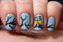 Owl Nails - Uñas decoradas con Búhos / Owl Nails,  Uñas decoradas con Búhos, owls, nailart