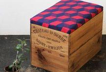 caisses en bois et cartons