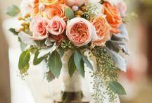 Pink, Peach, Coral Wedding Flowers