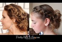 Easy Beginner Hair Styles / Easy hairstyles for beginners; braids, buns, updos; ponytails, twists. Fast and simple hairdos.