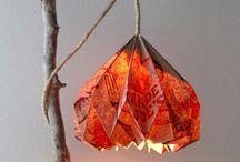 Folded paper lamp / Driftwood n paper meet!