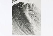 Parfois une vague de Akira Abé, graveur japonais, print, Atelier 17