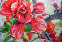 Flowers / Paintings on canvas with flowers. Thank you for visiting!