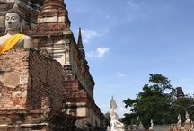 Exploring Ayutthaya. One of the 4 largest captial in Bangkok. It has 400 years of history and survived from 2010 flood.