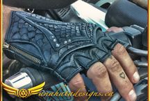 Leather Gloves / Handmade leather gloves for festival wear and Burning Man fashion