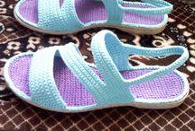 Schoenen gehaakt