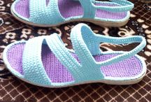 crochet flip flop / sendal
