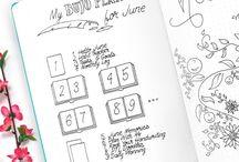 BULLET JOURNAL / Dans ce tableau vous retrouverez de nombreuses idées de mise en page pour votre bullet journal !  Monthly log / Weekly log / Collection / Inspiration