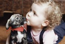 *baby and puppy*