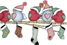 Christmas stocking birds