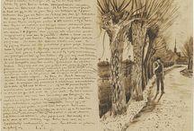 Letters/sketchbook of Vincent van Gogh.