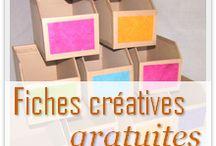 Fiches créative gratuite