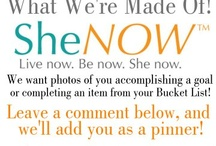 Living Life Now / Join us by placing a photo of yourself achieving a goal or completing an item from your bucketlist on this board. When pinning your picture leave a caption. Let's show this world what women are made of.   Please note: You must own the photo you post. Also, by placing photos on SheNOW's board you are giving SheNOW permission to use your photo on our website and promotional videos. You also agree to all Terms and Conditions, and the Privacy Policy, listed on the website.