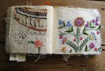 Embroidery stitch sample book