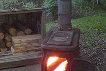 Backyard woodstove
