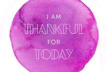 Gratitude / The Attitude of Gratitude