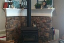 Wood Fire Place Ideas / by Andra Cooper