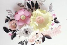 Бумажные объёмные цветы