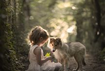 Happy children (or people) with sweet animals. / It is always so heart touching and joyful to see these lovely children with their sweet animals.