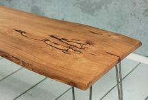 Hairpinlegs.pl - Coffee Tables / A collection of our original design and handmade coffee tables combining solid wood and industrial materials. Visit our website www.hairpinlegs.pl for more beautiful pieces!