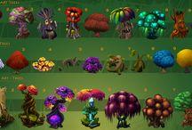 Illustrations: Trees & plants