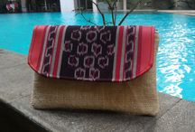 Ethnic ikat tenun clutch bag by DeNesia