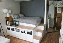 dormitorios con poco espacio