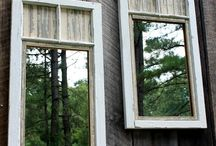 Old window frames / Mirrors out of old window frames