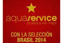 ¡Aquaservice con la Roja! / ¡Vamos España! Ojalá podáis sentir la energía de todo Aquaservice fluyendo hacia Brasil. Está complicado pero no imposible... ¡A por ellos!  / by Aquaservice
