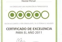 Certificado de Excelencia / Certificado de Excelencia de hoteles #hoteles #hotel #hostal #madrid  http://www.hostalpersal.com/en/