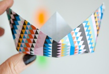 Origami boats / Don't know exactly why, but I love origami boats...