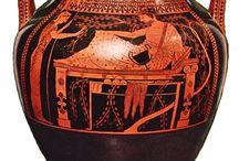 Grieken, Schilderkunst, Roodfigurige vasen