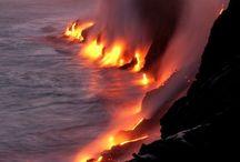 lava, sea