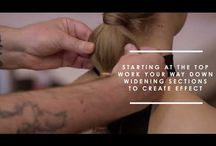 Simple hair styling step-by-step videos