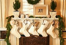 Holiday Mantel Decor / Beautiful and fun winter mantel decor!