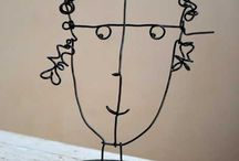 sculpture STEEL-WIRE / Art lessons