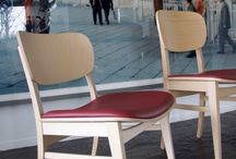 CUP CUP chairs  by Z-CREATIONS / Cup cup chairs in oak and beech, design Luc Vincent, by Z-Creations