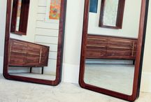 Mirrors / Mirrors made from live edge, walnut, pecan, oak, steel