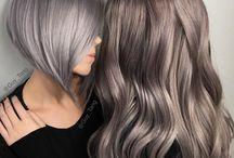 Aubergine, violet, parelmoer haar