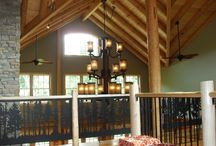 Log Home Cathedral ceiling