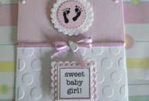 baby girl card / by Lucy Padovan
