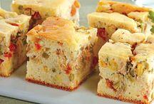 tortas salgadas de vários sabor